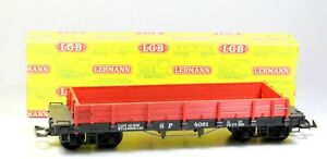 Spur G LGB 4061 4- achsiger US- Niederbordwagen, OVP