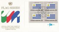 UN146) United Nations 1984 Uruguay 20c Stamp - Flag Series FDC. Price: $8.00