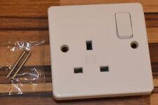 MK Electric Logic Plus 1 Gang 13A Single Switched Socket White K2757 WHI