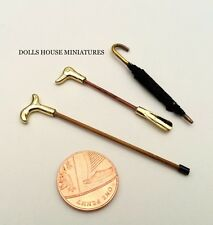 Shoe Horn, Walking Stick & Umbrella. Dolls House Miniature Accessories