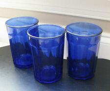 VTG Luminarc Arcoroc Cobalt Blue Drinking Glasses Tumblers-France