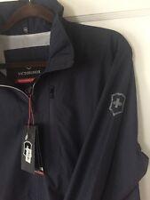 Victorinox Swiss Army Men's Large Clipper Navy Blue Windbreaker Jacket New NWT