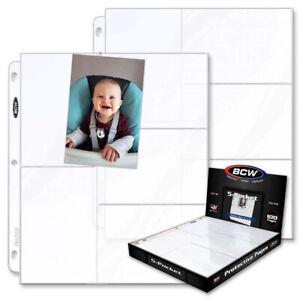 20 - 5 Pocket 3 1/2 x 5 1/4  Photo Page Sheet Protector BCW fits 3 ring binder