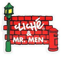 "CLICHE/Mr Men ""MURO"" Skateboard Sticker 7cm x 7cm Snowboard CAMPER ROSSO"