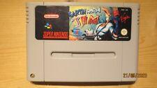 Earthworm Jim for SNES Super Nintendo. Cart Only. Pal.