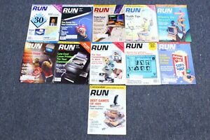 Vintage 1989 RUN Commodore Computer Magazine Lot of 11 Almost Full Year C64 C128