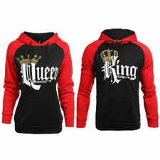 Couple Matching Hoodies Sweatshirt King And Queen Jumpers Pullover Casual Tops
