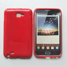 For Samsung Galaxy Note i9220 N7000 Red Glossy Rubber Case Cover