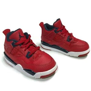 "Nike Air Jordan Retro 4 ""FIBA"" TD Gym Red Size 8C Shoes BQ7670-617 CLEAN"