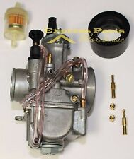 Carburetor 28mm Carb W/ Intake Needle Jet For Kawasaki KX80 KX85 KX100 KX125