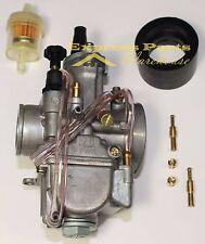 Carburetor 28mm Carb W/ Intake Needle Jet For Kawasaki KX80 KX85 KX100 KX125
