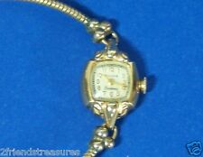 Vintage Bulova Ladies Excellancy Watch 10K Gold Filled 1950  Parts Restoration