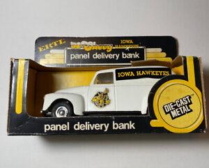 VINTAGE ERTL IOWA HAWKEYES - Panel Delivery Metal Bank 50 Chevy w/Box - Rare
