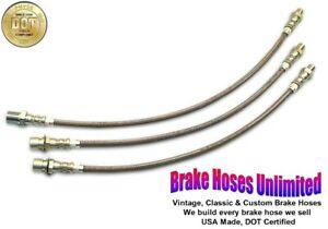 STAINLESS BRAKE HOSE SET Hudson Eight & Eight DeLuxe, Series 44, 45 - 1940