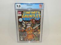Marvel Comics Thanos Infinity Gauntlet #1 Jim Starlin Story 7/91 CGC 9.0 White