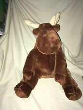 "Kohls Cares 14"" Brown Moose Plush If You Give A Moose A Muffin Stuffed Animal"