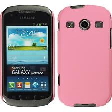 Coque Rigide Samsung Galaxy Xcover 2 - gommée rose + films de protection