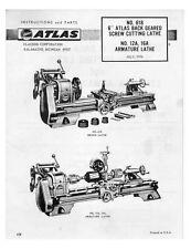1976 Atlas 618  MK-I Lathe Manual  Instructions
