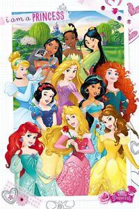 Disney Princess - Movie Poster / Print (I Am A Princess - 11 Princesses)