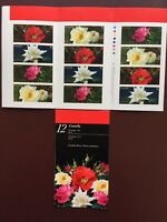 Canada Stamp Booklet - 2001 CANADIAN ROSES Booklet of 12 Stamps in 3 Panes