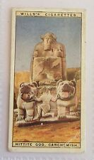 Hittite God Carchemish Wonders Of The Past 1926 Wills Cigarette Card (B14)