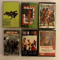 Lot of 6 Rare Rap Hip Hop Cassette Tapes!