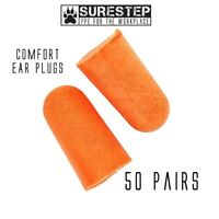 50 Pairs Foam Ear Plugs - Industry, Construction, Concerts, Snoring, Sleep Aid