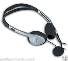 LINDY 20398 CUFFIE CON MICROFONO CONTROLLO VOLUME RADIO MP3 PC Voice-over-IP