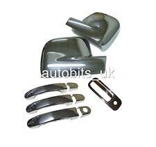 VW CADDY TRANSPORTER T5 03-209 Chrome specchio 3 ante + POSTERIORE MANIGLIA copre Pack