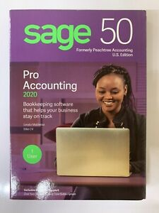 Sage 50 Pro Accounting 2020 Peachtree BRAND NEW SEALED
