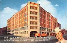 Richmond Virginia LM Cigarette Factory Street View Vintage Postcard K76754