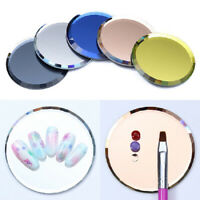 HN- New Nail Art Color Palette False Tips Mirror Display Board DIY Manicure Tool
