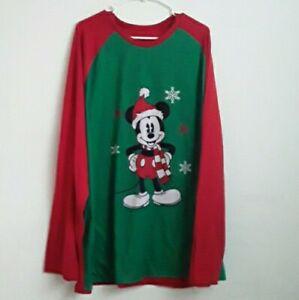 Disney Mickey Mouse Christmas Pajama sz 2XL