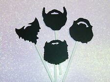 Beards / Lumberjack / Little Man / Duck Dynasty Manly Man Cupcake toppers (254C)