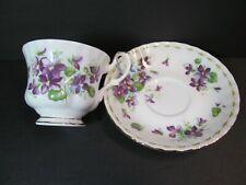 Royal Albert Flower Sweet Violets Cup Saucer Month February Viola Bone China