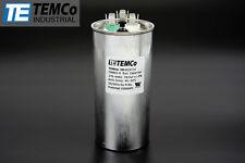 TEMCo 70/5 MFD uF Dual Run Capacitor 370 440 vac Volts AC Motor HVAC 70+5