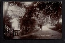 Raywell near Cottingham - Man with Bicycle on road - real photographic postcard