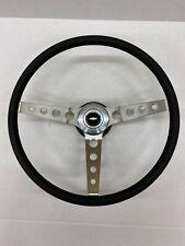 Comfort Grip Steering Wheel Kit Black Cushion 3 Spoke Round Holes Chevelle