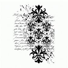 Crafty individuals baroque éclaboussures script fond non montés red rubber stamp