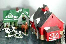 "Rare Vintage 1986 New England Village ""Jacob Adams Farmhouse & Barn #65382"