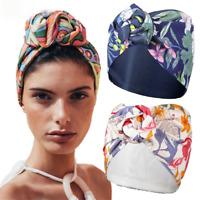 Women Turban Headband Print Stretch Knot Long Scarf Headbands Hair Accessories