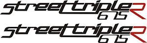 Triumph street triple 675r vinyl badges