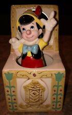 Vintage Schmid Walt Disney Rotating Pinocchio Music Box Nice