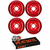Revision Wheels Inline Roller Hockey Variant Soft 74A W/ Bones Bearings (4-Pack)