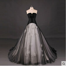 New Black Wedding dress Quinceanera Pageant Ball Gown Formla Prom Party dresses