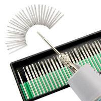 30pcs Diamond Burr Bits Drill Kit Engraving Carving Dremel Rotary Tool Accessory