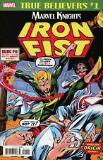 TRUE BELIEVERS Iron Fist #1 NM arvel Premiere (1972) #15 Rpt– MARVEL COMICS 2018