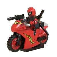 Marvel Movie Deadpool Motorcycle Super Heroes Building Blocks Kids Toys Gift New