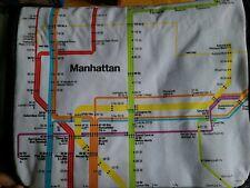 Whole Foods MTA Messenger Bag NYC Map Graphics Adjustable Strap Zip Pocket
