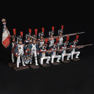 """Tin soldier, Set of Formation of """"Kare"""" French grenadiers of the old guard 54 mm"""